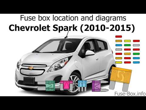 [SCHEMATICS_4US]  Fuse box location and diagrams: Chevrolet Spark (2010-2015) - YouTube | Chevy Spark Fuse Box Location |  | YouTube