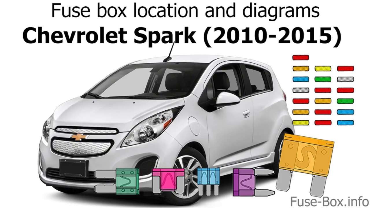 small resolution of fuse box location and diagrams chevrolet spark 2010 2015 youtube chevrolet spark 2010 fuse box location chevy spark fuse box location
