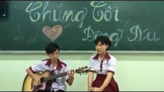 Cover Vì tôi còn sống ( guitar Minh Toàn- singer Hồng Hà) trường THCS THPT Đông Du
