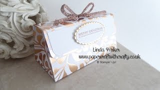 Christmas Countdown Project No. 5 - Mini Clutch Bag Box with Magnetic Closure
