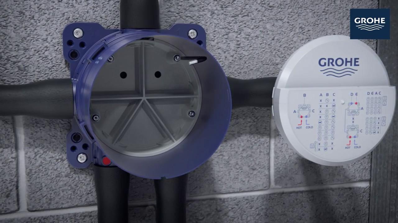 Ghidul de instalare al sistemului de dus incastrat GROHE Rapido SmartBox si SmartControl