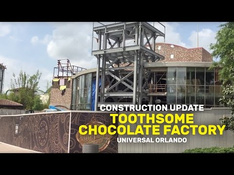 Construction Update: Toothsome Chocolate Factory At Universal Orlando Resort