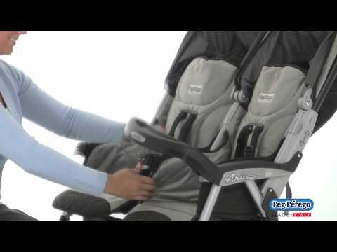 2011 Double Stroller - Peg Perego Aria Twin 60/40 - Official Video