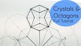 Crystal & Octagons - How 2 Draw Geometric Patterns | DearingDraws