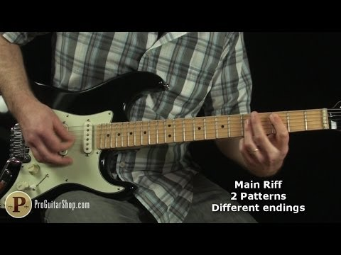 Red Hot Chili Peppers - The Greeting Song Guitar Lesson