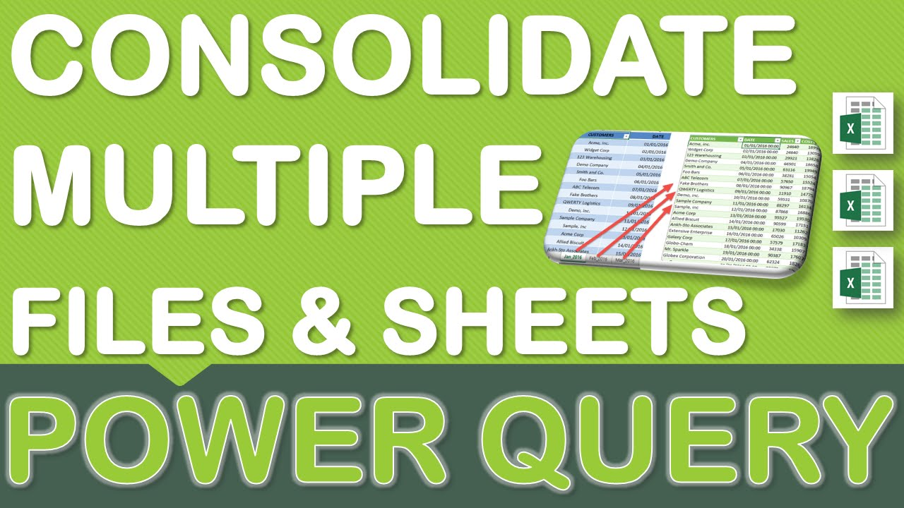Workbooks consolidate workbooks in excel : Excel Power Query & Data Cleansing Part 3: Consolidate Workbooks ...