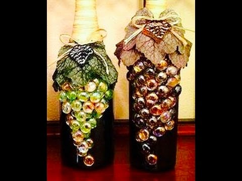 manualidades  botellas de vidriocomo decorar una