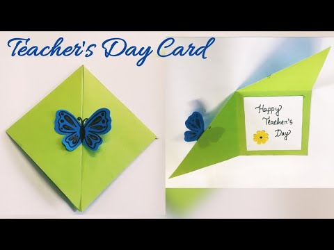 DIY teacher's day card / handmade card  / greeting card / latest design card /nupur's handicrafts