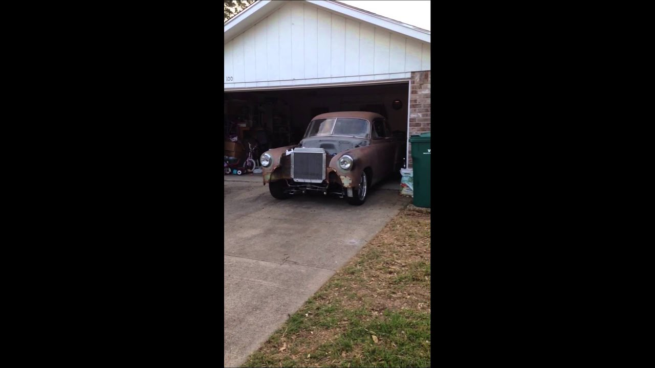 1952 Chevy LS swap first drive - YouTube