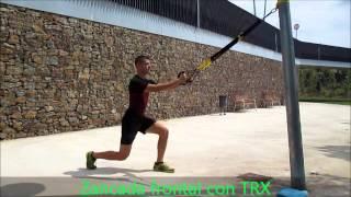 Zancada frontal con TRX