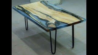 видео Журнальный стол из массива дерева