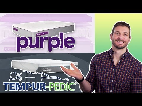 Purple Mattress vs TempurPedic - Premier Foam & Hybrid (REVIEW)