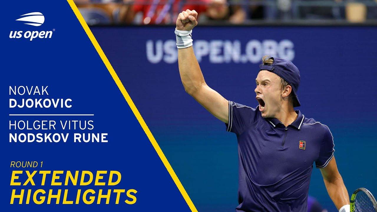 Novak Djokovic vs Holger Vitus Nodskov Rune Extended Highlights | 2021 US Open Round 1