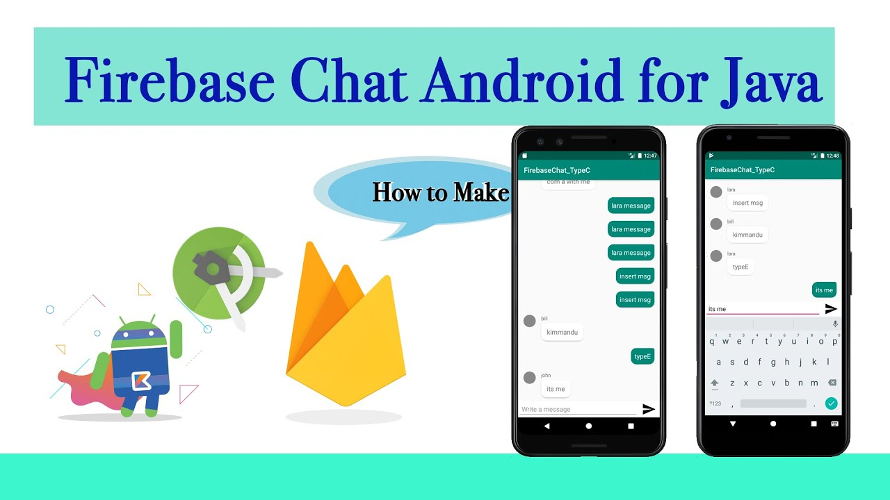 Make a Firebase Chat app Android for java - YouTube