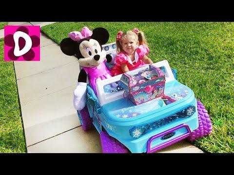 Минни Маус едет ЗА СОКРОВИЩАМИ Видео для Детей Disney Minnie Mouse and Mickey Mouse surprise Toys