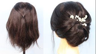 Beautiful Wedding Hairstyle For Short Hair   hairstyles for short hair   prom hairstyles   messy bun