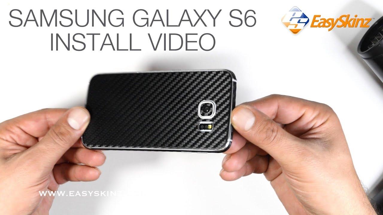 Samsung Galaxy S6 CARBON Fiber Skin Wrap Installation Review