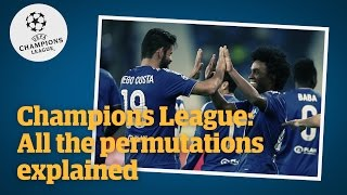 Champions League: all the permutations explained