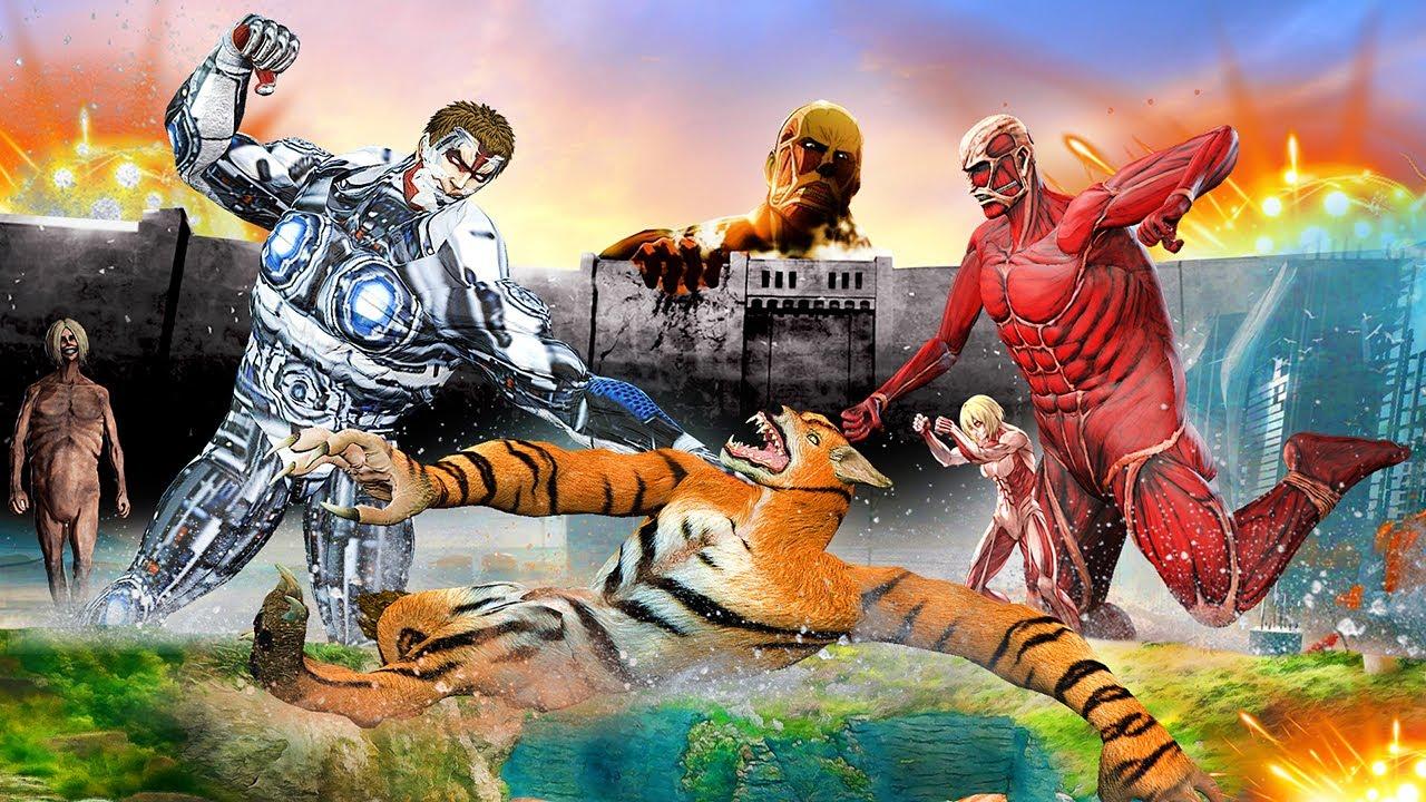 जादुई शेर भेड़िया VS रोबोट टाइटन मॉन्स्टर Magical Tiger Wolf Vs Robot Titan Monster Hindi Kahaniya