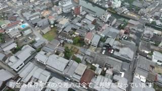 安芸の小京都竹原 広島県竹原市の町並み保存地区の空撮