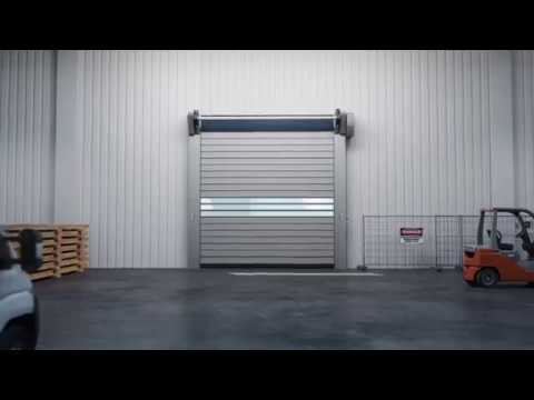 assa abloy rr3000 iso insulated high speed door youtube. Black Bedroom Furniture Sets. Home Design Ideas