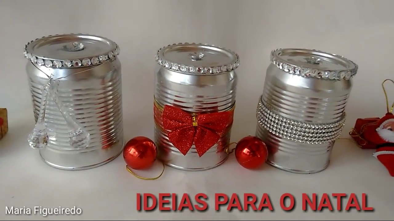 Armario Multiuso Magazine Luiza ~ Decoraçao de Natal Reciclagem de latas Do lixo ao luxo