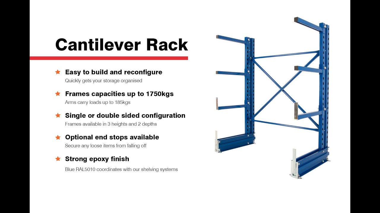 o used cantilever system shop rack c upr levels arm