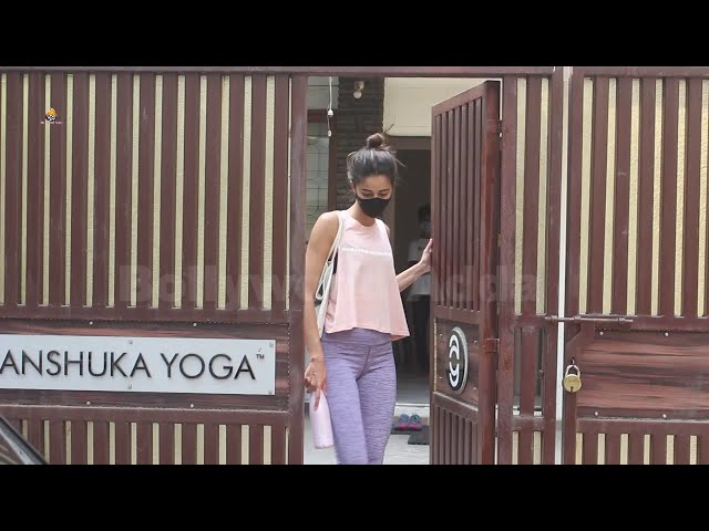 Exclusive Ananya Pandey Spotted Outside Yoga Class In Bandra