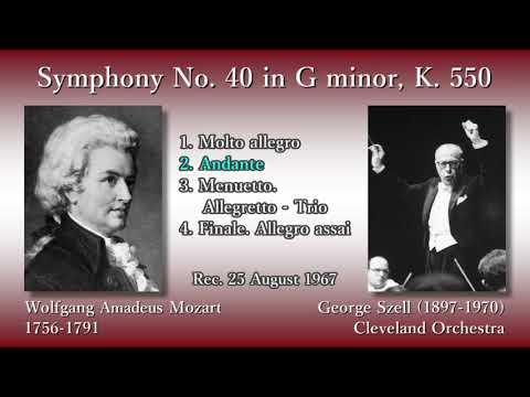 Mozart: Symphony No. 40, Szell & ClevelandO (1967) モーツァルト 交響曲第40番 セル
