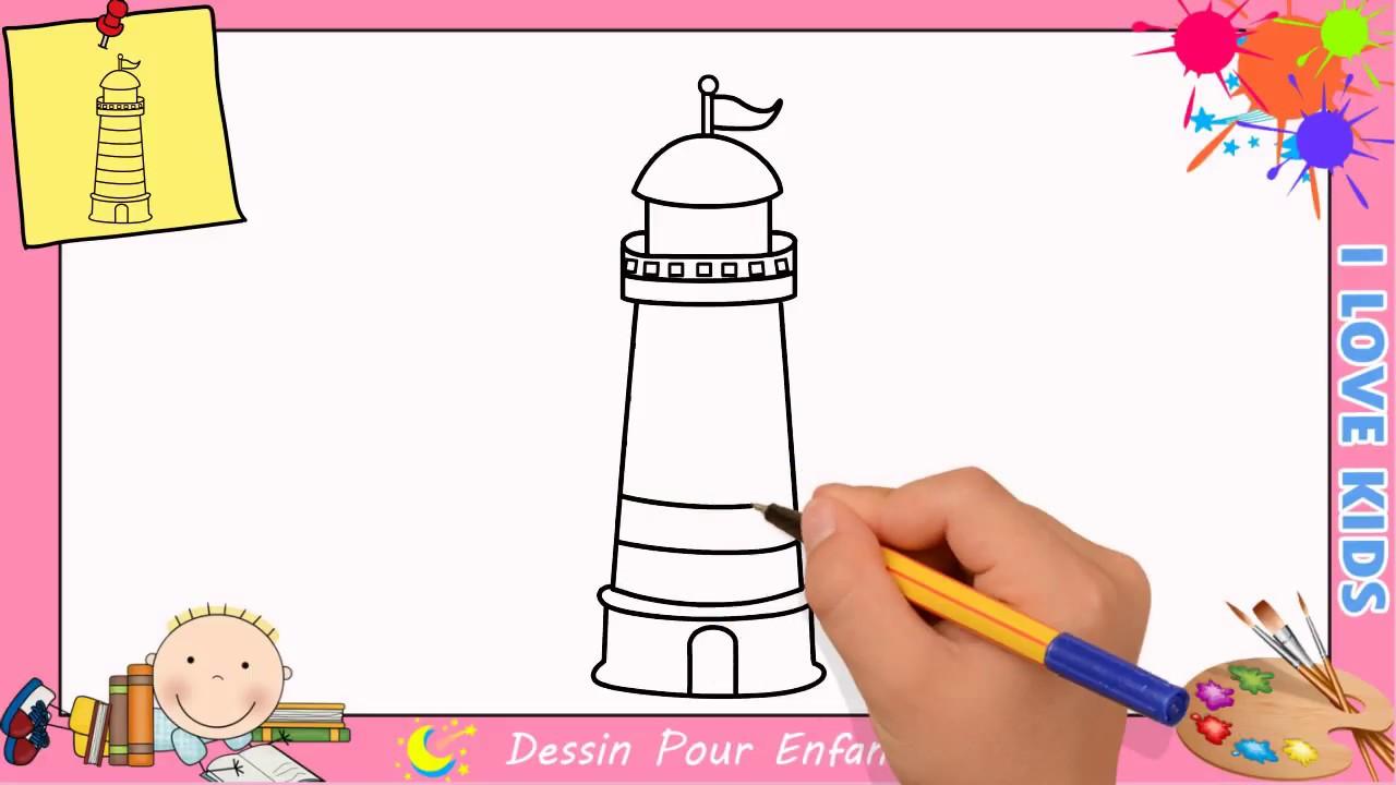 Dessin phare facile etape par etape comment dessiner un - Dessin de phare ...
