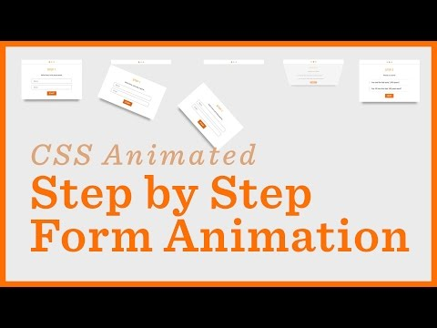 Step By Step Form — CSS Animations - YouTube