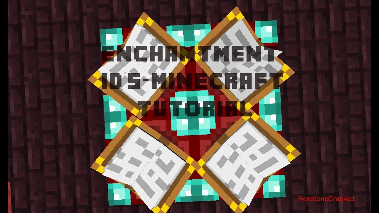 Enchantment ID's-Minecraft Tutorial DOES NOT WORK IN 1.6 ...