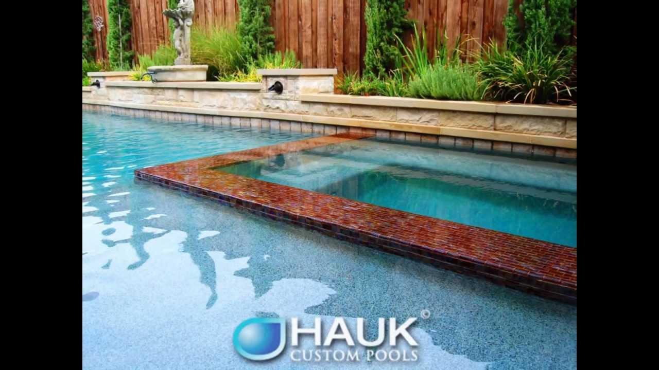 Dallas Frisco Pool Builders ~ Elegance by Hauk Custom Pools - YouTube