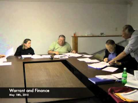 Warrant and Finance - 05-18-2015