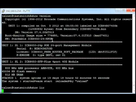 Brocade ICX Micro Tutorials - Basic Show Commands