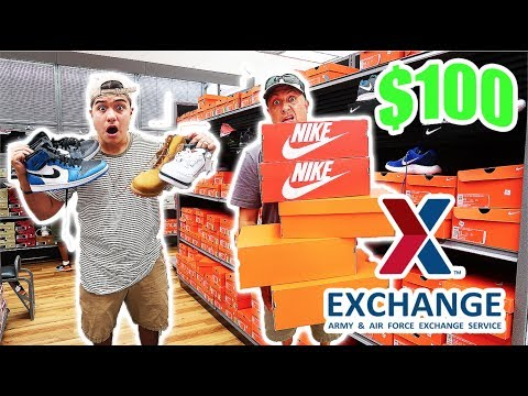 THE $100 MILITARY MALL CHALLENGE!! (Steals)