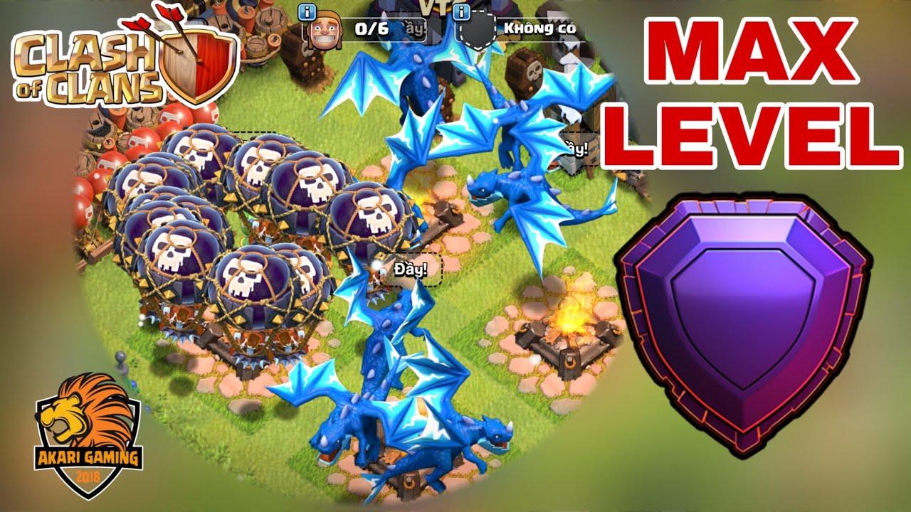 RỒNG ĐIỆN BALLOON MAX CẤP ĐỘ TẤU HÀI LEO RANK HUYỀN THOẠI Clash of clans | Akari Gaming