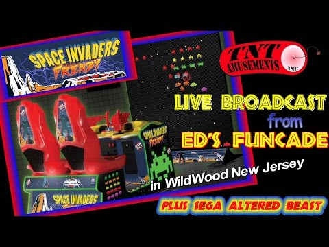 #1264 Raw Thrills Namco SPACE INVADERS FRENZY Live from ED's FUNCADE-TNT Amusements