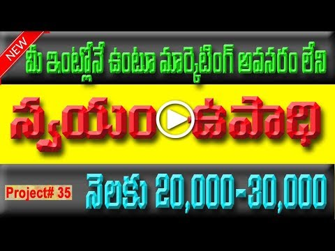 low investment business at home in telugu| video trendz|small scale industries|ssi