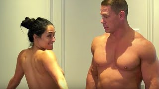 John Cena and Nikki Bella sharing intimate moments -Wrestlemania