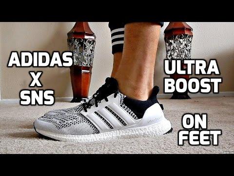 9e2fdd44672 SneakerNStuff x Adidas Ultra Boost On Feet - YouTube