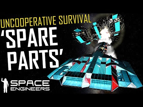 Hunting 'Spare Parts' & The Salvage Vessel - Space Engineers