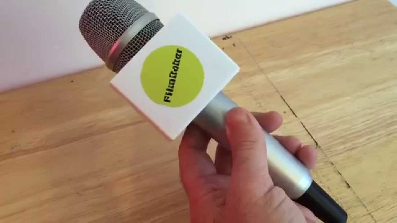 Microphone Flag Easiest Branded Diy On Shank Reporter Handheld Style You