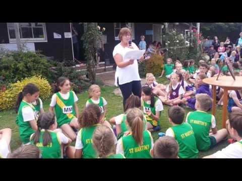 St Martins School Dorking win District Sports Athletics July 2016