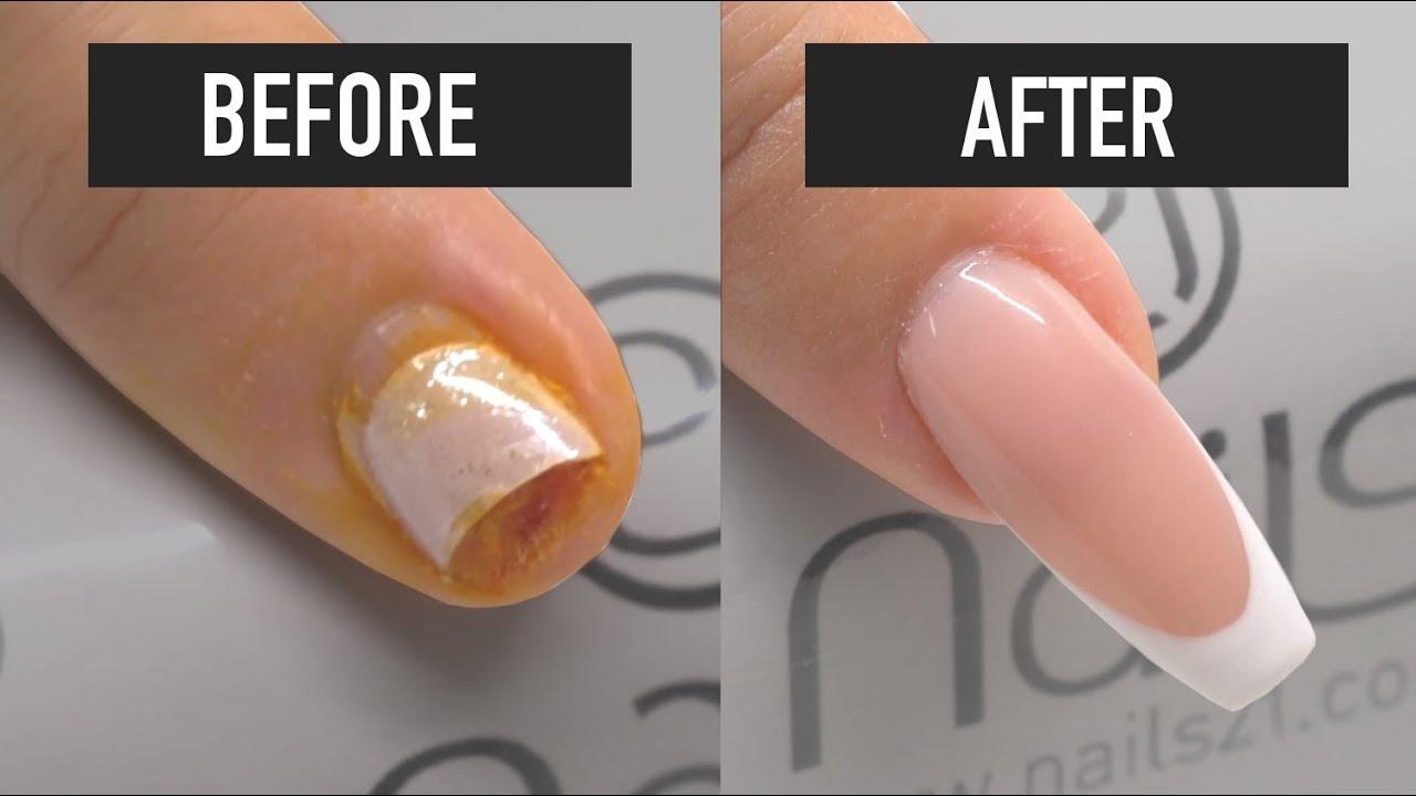 How to repair a broken nail - Nails 21 - YouTube