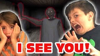 Granny- Mobile Horror Game- Kids Gameplay and Reaction!