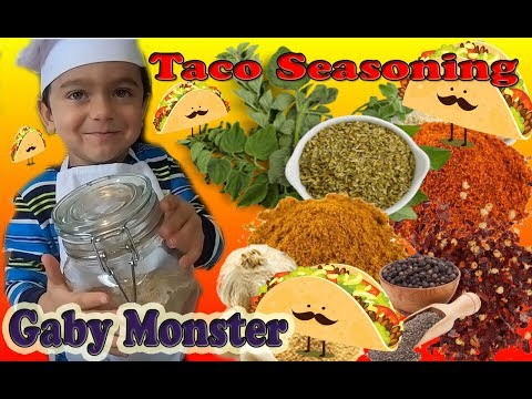 Making Taco Seasoning Recipe with Gaby Monster!  Kid cooking!  Fun Kitchen Family Recipes!