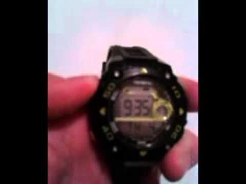 How To Change The Time On A Digital Armitron Watch Youtube