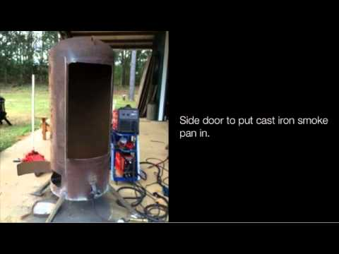 Stand Up Smoker Designs : Vertical propane smoker build youtube