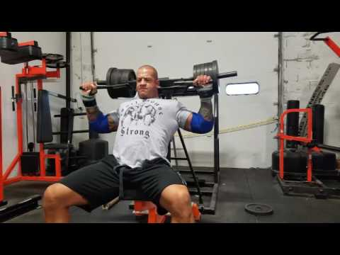 Viking Press Drop Set with Pro Strongman, Matt Mills